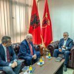 Kryetari i PDSH-së, z. Menduh Thaçi priti në selinë e partisë në Tetovë, ambasadorin e Shqipërisë në vend, z. Fatos Reka.